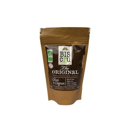 Mini Cracker Crudi Olive e Cipolle Bio - BIS CRU
