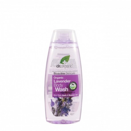 Organic Lavander Body Wash, 250 ml - Detergente Corpo - DR ORGANIC