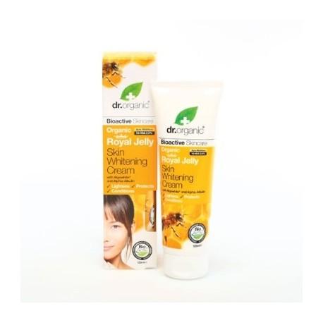 Organic Royal Jelly Skin Whitening Cream, 125 ml Crema Schiarente Viso e Corpo - DR ORGANIC