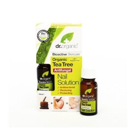 Organic Tea Tree Nail Solution 10 ml Soluzione unghie - DR ORGANIC