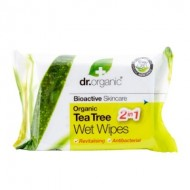 Organic Tea Tree Wet Wipes - 20 Salviettine Umidificate Multiuso - DR ORGANIC