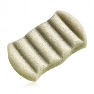 6 Wave Green Clay Bath Sponge - THE KONJAC SPONGE