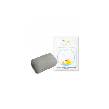 Rectagular White Pure Baby Sponge - THE KONJAC SPONGE