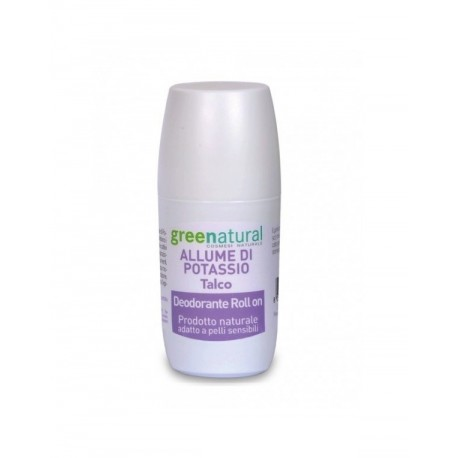 Deodorante roll-on Allume Dii Potassio - Talco - GREENATURAL