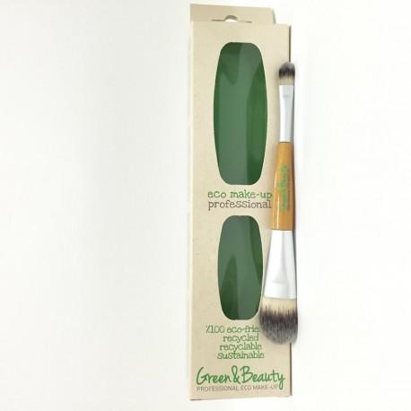 Pennello doppio Fondotinta/Ombretto - GREEN&BEAUTY
