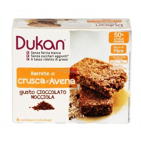 Barretta di Crusca D'avena Cioccolato e Nocciola - DUKAN
