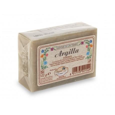 Saponetta 100 gr Argilla - SAPONE DI UN TEMPO