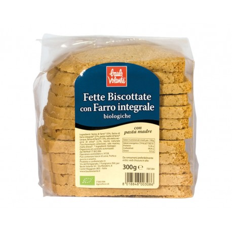 Fette Biscottate con Farro Integrale - BAULE VOLANTE