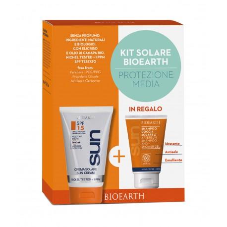 Sun Kit Crema Spf 15 + Shampoodoccia - BIOEARTH