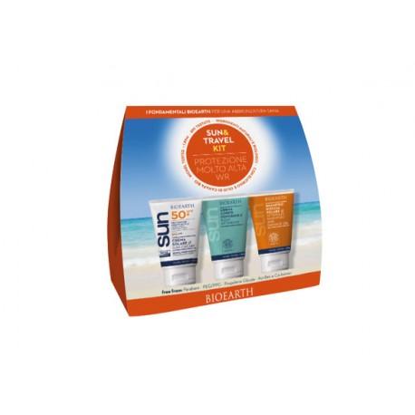 Sun Kit Travel Crema SPF 50 WR + Crema Doposole + Shampoodoccia - BIOEARTH