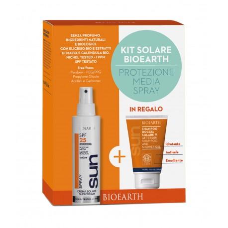 Sun Kit Crema Spray SPF 25 + Shampoodoccia - BIOEARTH