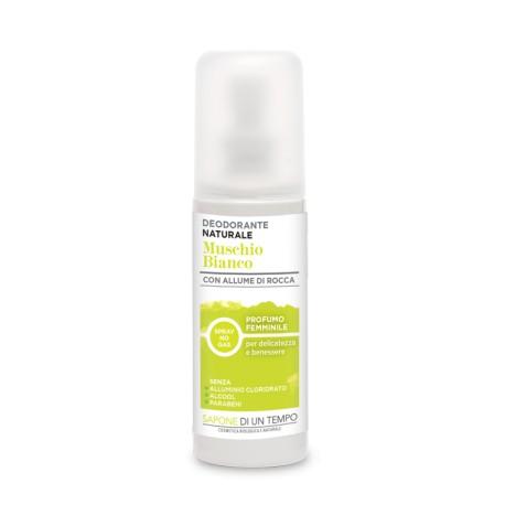 Deodorante Spray al Muschio Bianco - SAPONE DI UN TEMPO