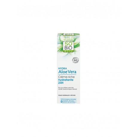 Crema Ricca 24 Ore Hydra Aloe Vera 50ml - SO' BIO ETIC