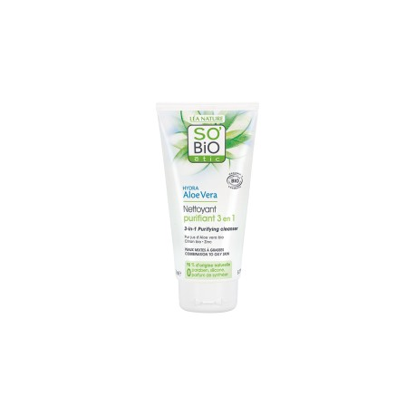 Gel Detergente Purificante 3in1 Aloe Vera 150ml - SO' BIO ETIC