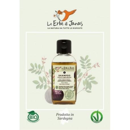 MINI Shampoo Capelli Secchi Fico e Lentischio - LE ERBE DI JANAS