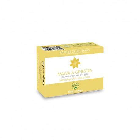 Saponetta 100 gr Malva e Ginestra - SAPONE DI UN TEMPO