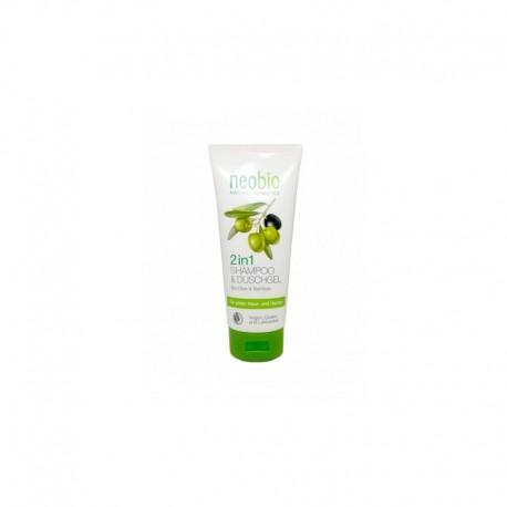 Gel doccia e Shampoo con bio olive e bamboo - NEOBIo