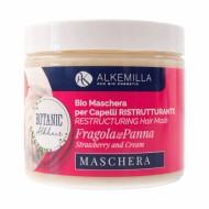 Maschera Capelli Bio Ristrutturante Fragola e Panna - ALKEMILLA