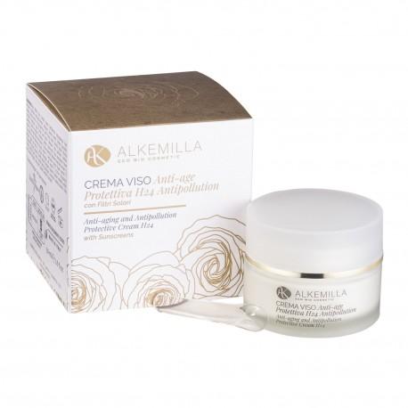 Crema viso anti-age protettiva H24 antipollution  - ALKEMILLA