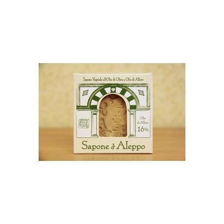 Sapone di Aleppo 16% di Olio di Alloro 200 gr  - TEA NATURA