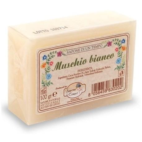 Saponetta 100 gr Muschi Bianco - SAPONE DI UN TEMPO
