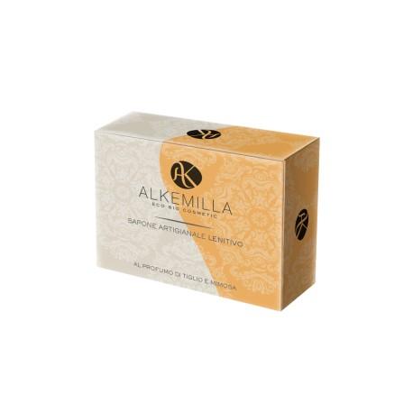 Sapone Artigianale Lenitivo Bio al Profumo di Tiglio e Mimosa  - ALKEMILLA