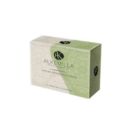 Sapone Artigianale Scrub Bio al Profumo di Ginestra  - ALKEMILLA