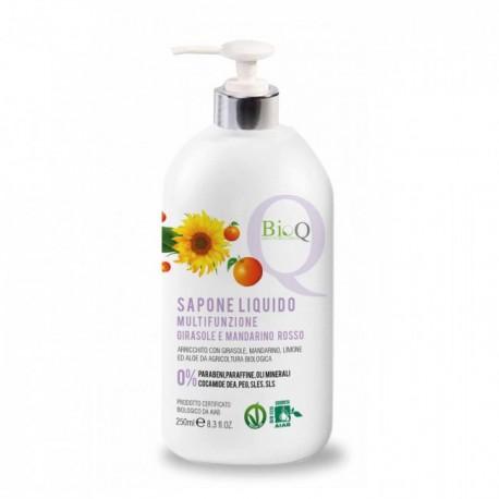 Sapone Liquido Multifunzionale Delicato Girasole e Mandarino Rosso - BioQ