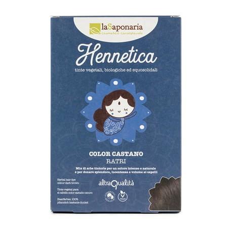 Hennetica Color Castano Scuro - LA SAPONARIA