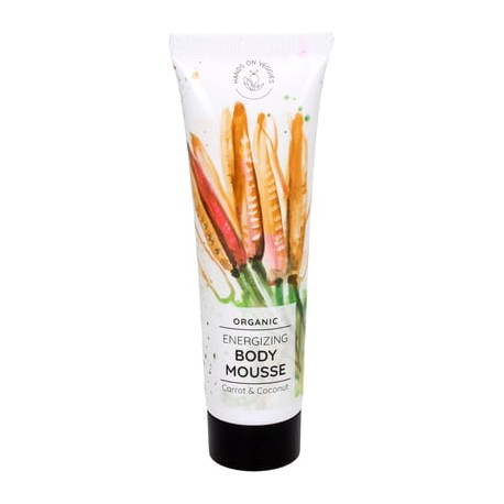 Organic Energizing Body Mousse Carrot & Coconut 150 ml - HANDS ON VEGGIES