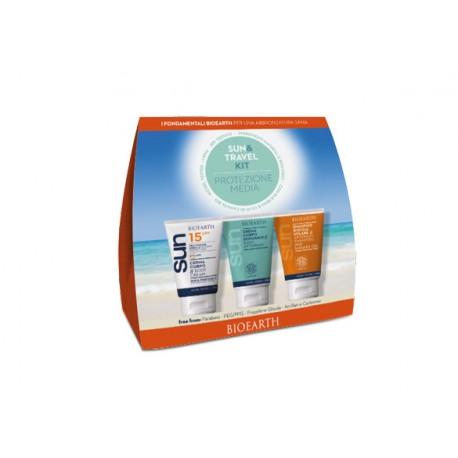 Sun Kit Travel Crema SPF 15 + Crema Doposole + Shampoodoccia - BIOEARTH