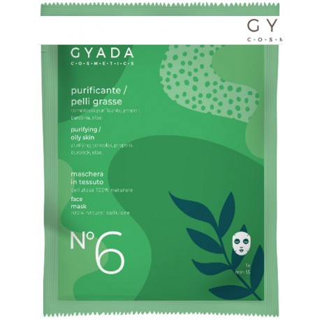Maschera in Tessuto n° 6 Purificante Pelli Grasse - GYADA COSMETICS