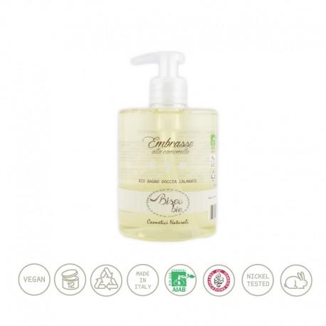 Bio bagno doccia alla camomilla – calmante per pelli delicate - BISOU BIO